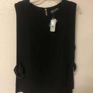 Forever 21 Black Sleeveless blouse & silver hooks